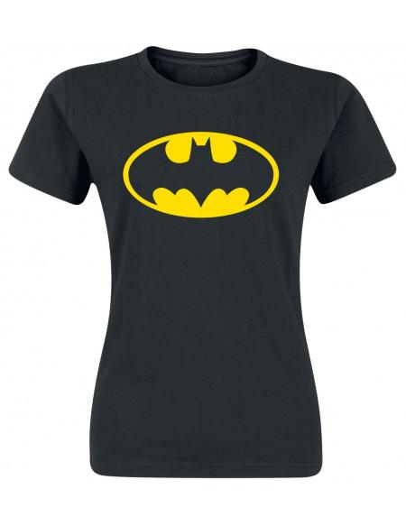 Batman Logo T-shirt Femme noir
