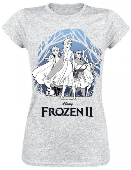 La Reine Des Neiges 2 - Group Shot T-shirt Femme gris chiné
