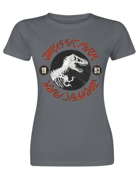 Jurassic Park Jurassic Rock T-shirt Femme gris