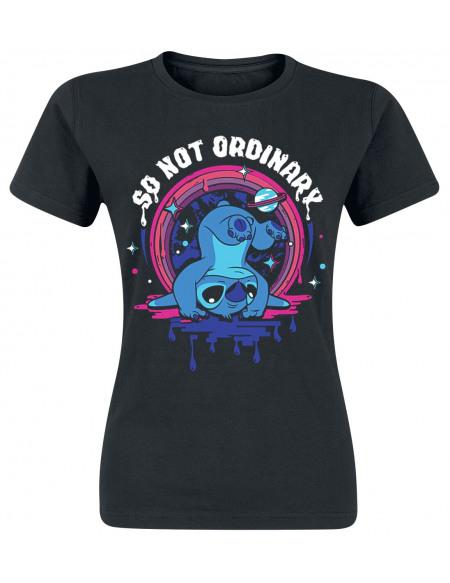 Lilo & Stitch Not Ordinary T-shirt Femme noir