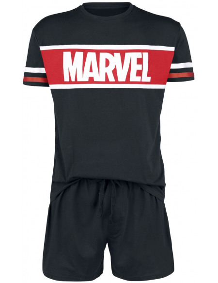 Marvel Logo Pyjama noir