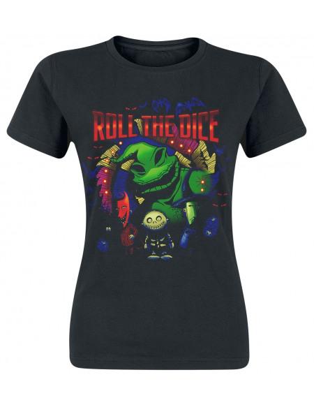 L'Étrange Noël De Monsieur Jack Roll The Dice T-shirt Femme noir