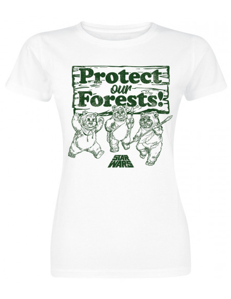 Star Wars Protect Our Forests T-shirt Femme blanc