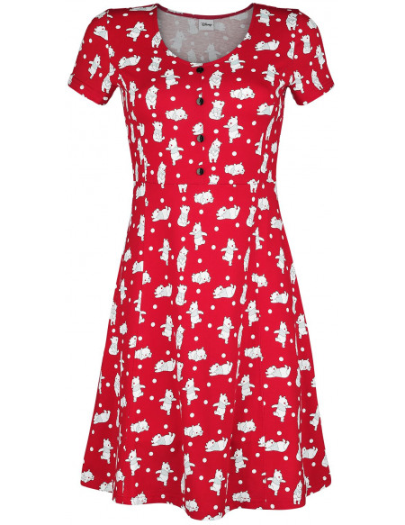 Winnie The Pooh Pois Robe rouge
