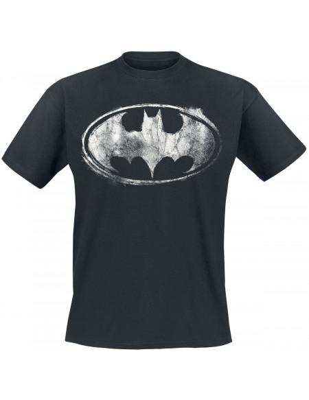 Batman Logo Abîmé T-shirt noir