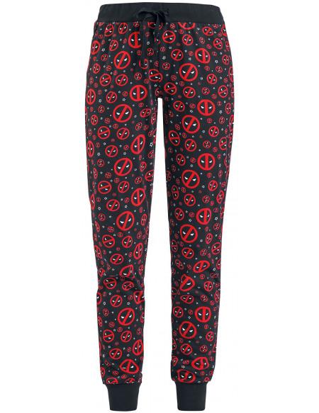 Deadpool Symboles Bas de pyjama noir