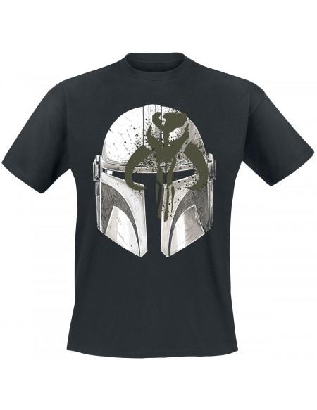 Star Wars The Mandalorian - Casque T-shirt noir