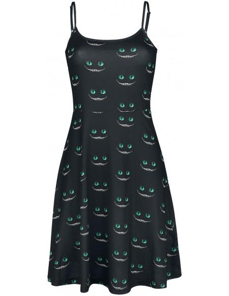 Alice Au Pays Des Merveilles Cheshire Cat Robe noir