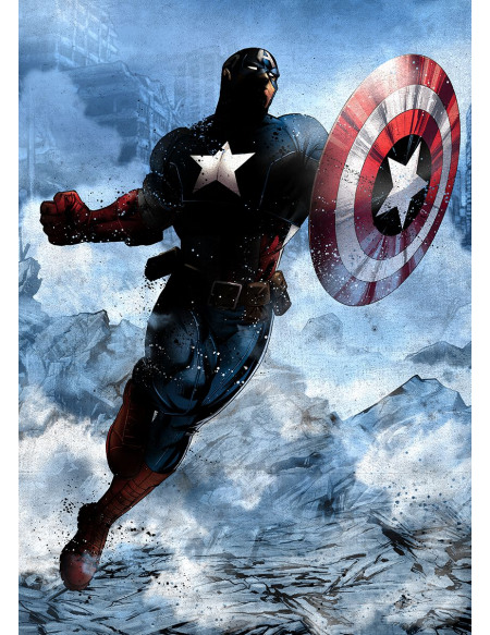 Captain America Plaque Photo murale Standard