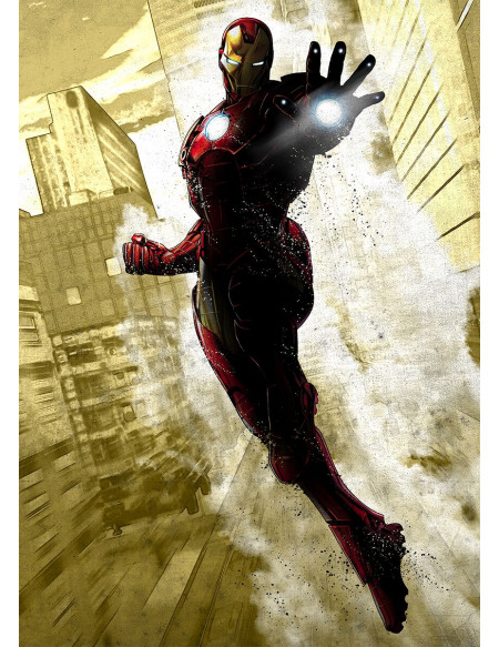 Iron Man Plaque Photo murale Standard