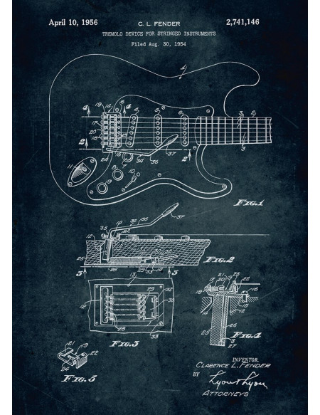 Guitare Plaque (Fender) Photo murale Standard