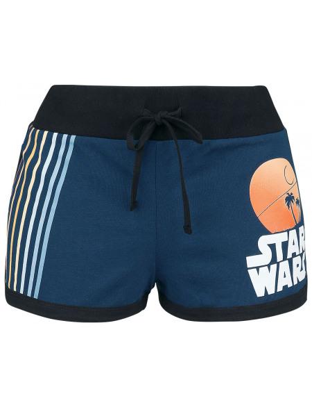 Star Wars Rayures Short Femme bleu