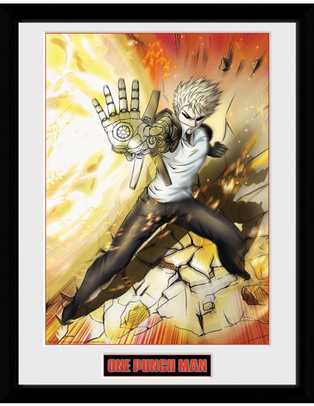 One Punch Man Genos Photo encadrée multicolore