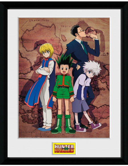 Hunter x Hunter Tableau Carte Photo encadrée multicolore