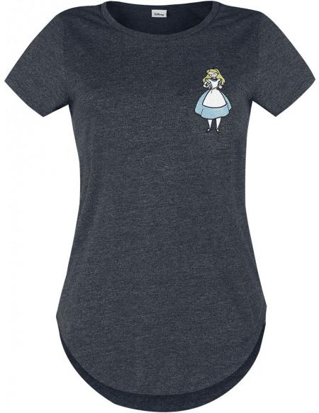 Alice Au Pays Des Merveilles Falling T-shirt Femme noir