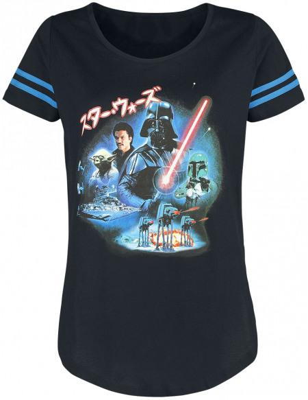 Star Wars Épisode 5 - L'Empire Contre-Attaque - Poster T-shirt Femme noir