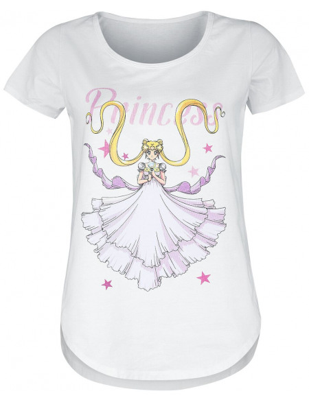 Sailor Moon Princess T-shirt Femme blanc