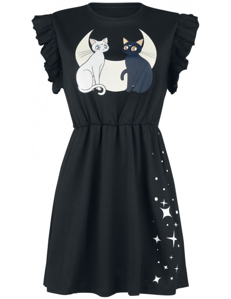 Sailor Moon Luna & Artemis - Chats & Lune Robe noir