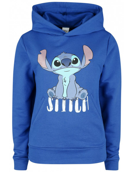 Lilo & Stitch Stitch - Assis Sweat à Capuche Femme bleu
