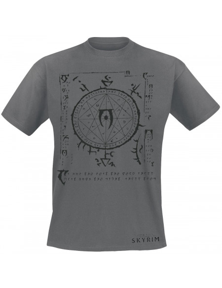 The Elder Scrolls The Elder Scrolls V - Skyrim - Mysterium Xarxes T-shirt gris chiné