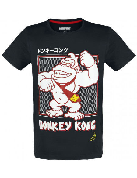 Super Mario Donkey Kong T-shirt noir