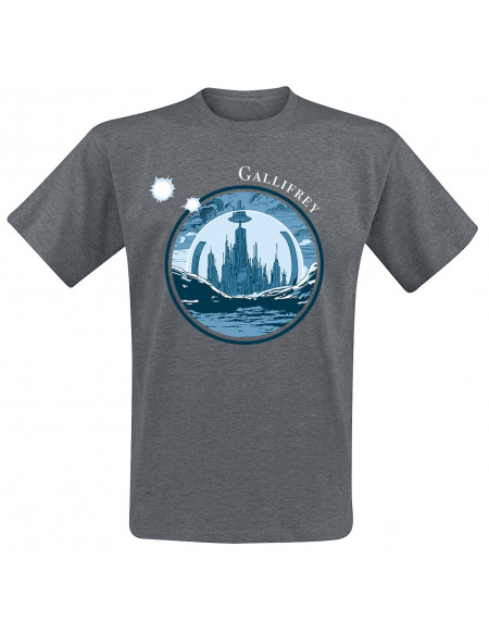 Doctor Who Gallifrey T-shirt gris chiné