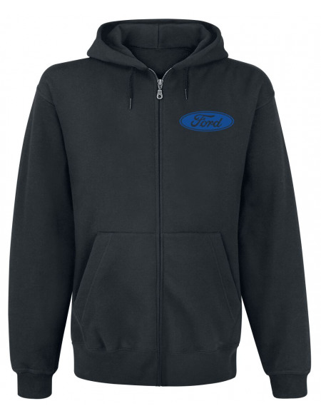 Ford Logo Classique Sweat Zippé à Capuche noir