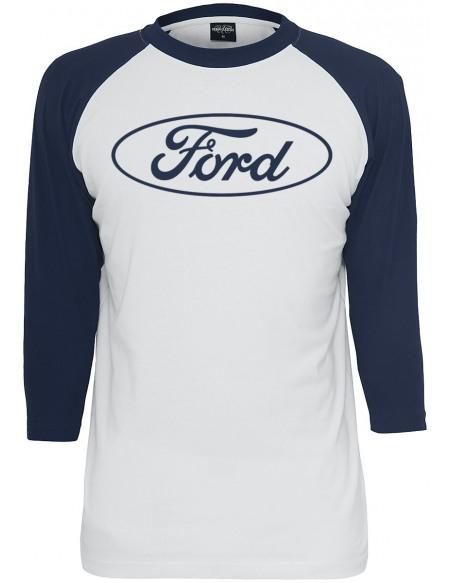 Ford Logo Classique Manches longues blanc/noir