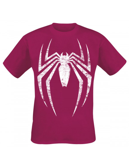 Spider-Man Logo Délavé T-shirt bordeaux
