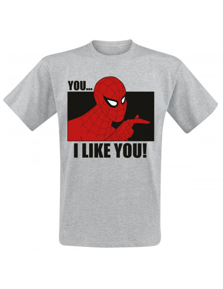 Spider-Man You.. I Like You! T-shirt gris chiné