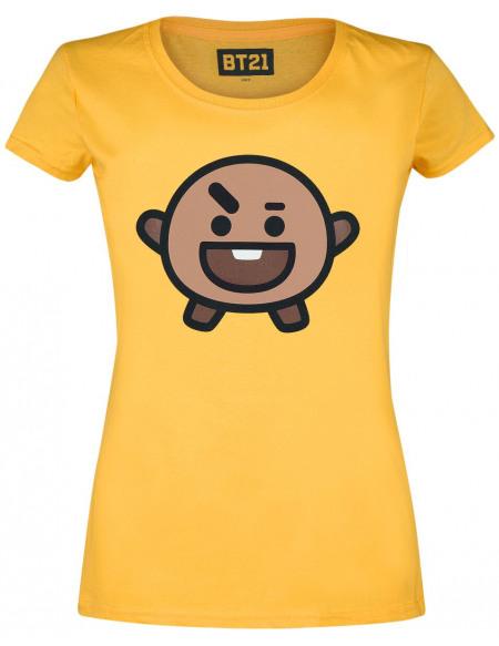 BT21 Shooky T-shirt Femme jaune