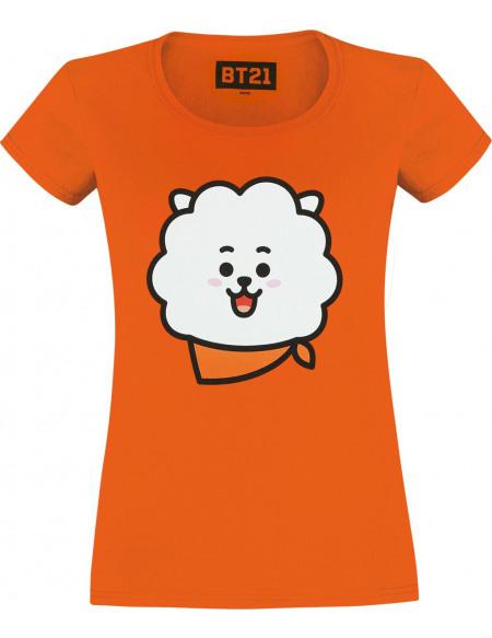 BT21 RJ T-shirt Femme orange