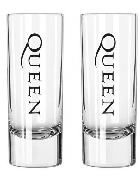 Queen Crest Set verres à shots transparent