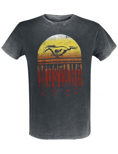 Ford Mustang - Sunset T-shirt noir