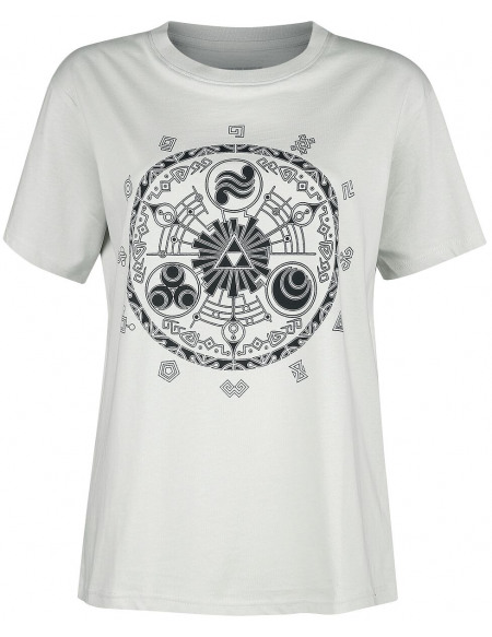 The Legend Of Zelda Symboles T-shirt blanc cassé