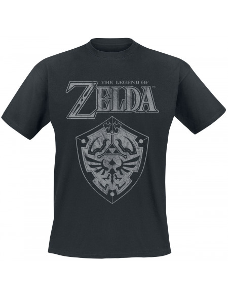 The Legend Of Zelda Schild T-shirt noir