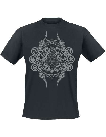 The Legend Of Zelda Emblème T-shirt noir