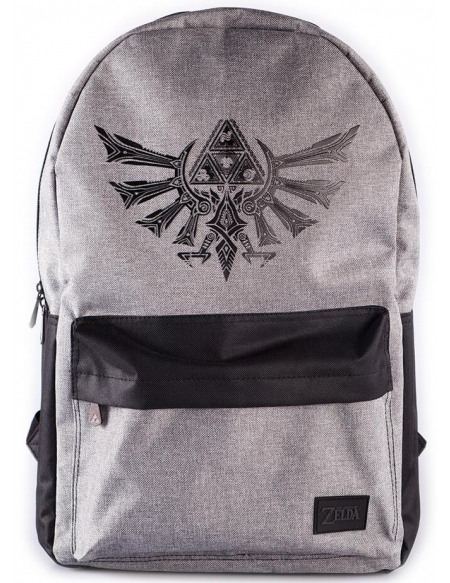 The Legend Of Zelda Logo Tri-Force Sac à Dos noir/gris
