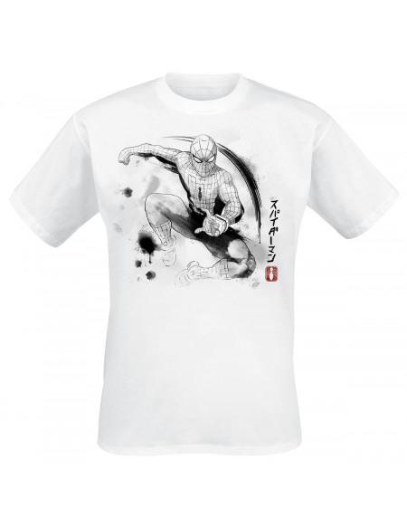 Spider-Man Encre T-shirt blanc