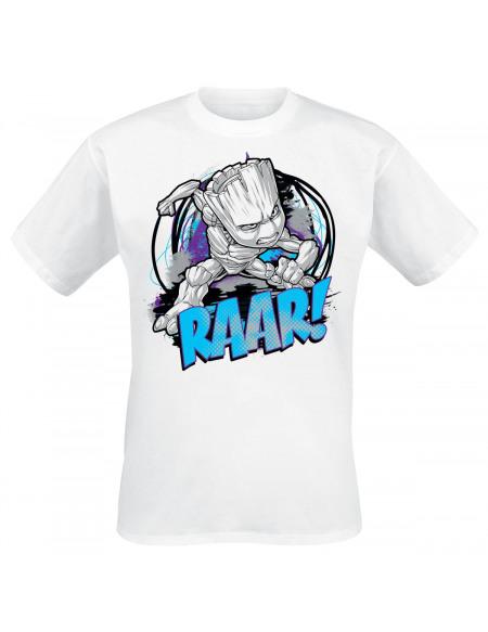 Les Gardiens De La Galaxie Groot - Raar! T-shirt blanc