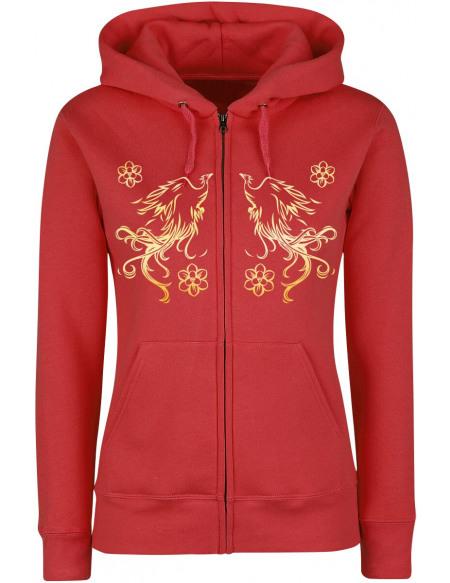 Mulan I Will Always Rise Veste à Capuche Femme rouge