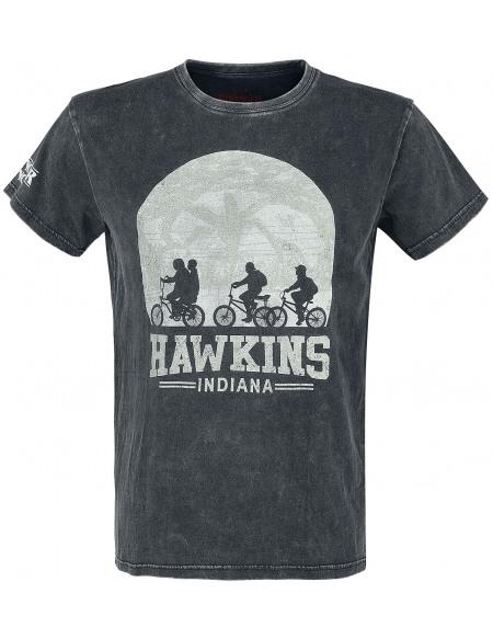 Stranger Things Hawkins T-shirt noir