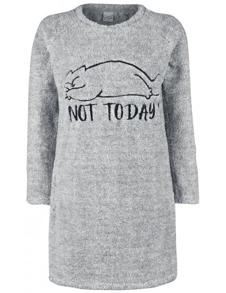 Simon' s Cat Not Today Robe gris chiné