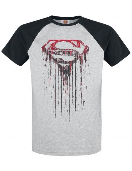 Superman Logo Sanglant T-shirt gris chiné/noir