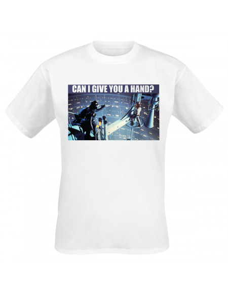 Star Wars Can I Give You A Hand? T-shirt blanc