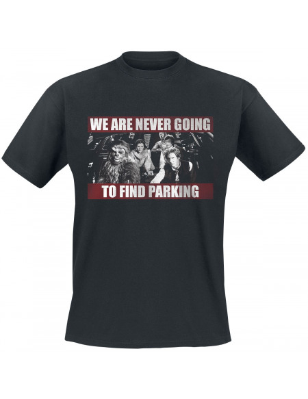 Star Wars We Are Never Going To Find Parking T-shirt noir