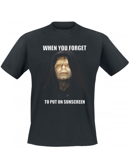 Star Wars When You Forget To Put On Sunscreen T-shirt noir