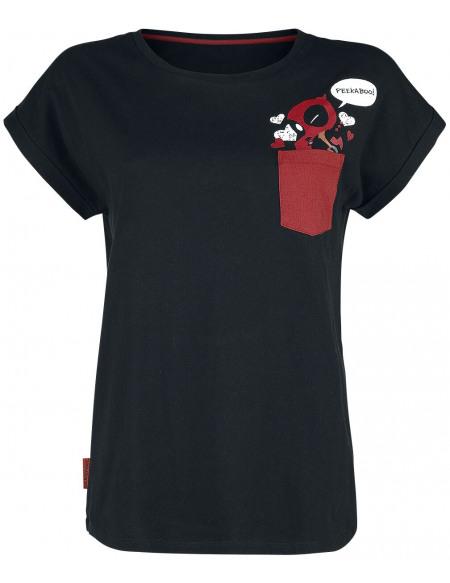 Deadpool Peek A Boo T-shirt Femme noir