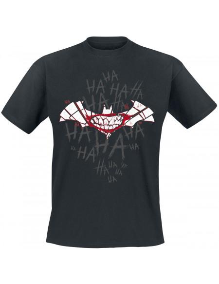 Batman Laughing Bat T-shirt noir