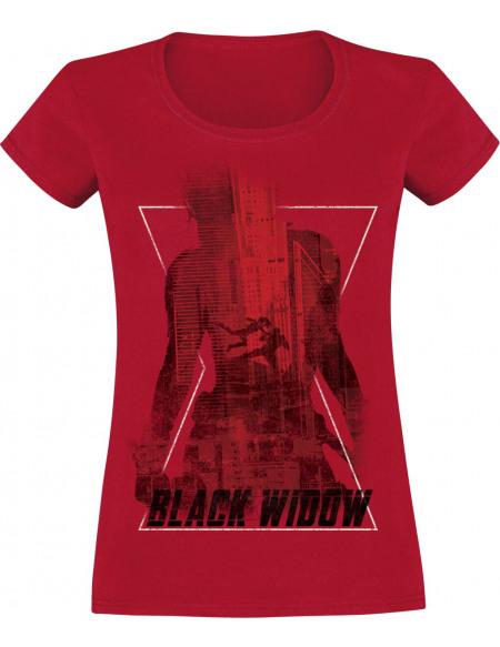 Black Widow Poster T-shirt Femme rouge